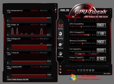Screenshot ASUS GPU Tweak para Windows 7