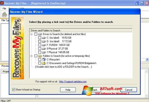 Screenshot Recover My Files para Windows 7