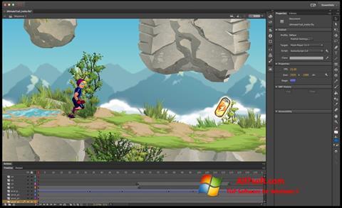 Screenshot Adobe Flash Professional para Windows 7