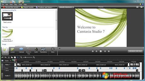 Screenshot Camtasia Studio para Windows 7