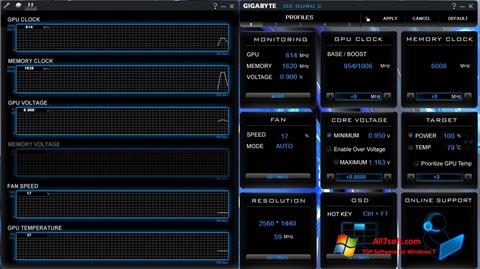 Screenshot GIGABYTE OC Guru para Windows 7