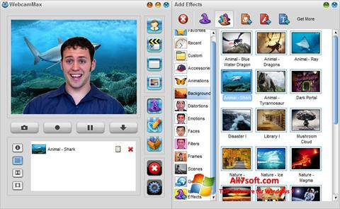 Screenshot WebcamMax para Windows 7