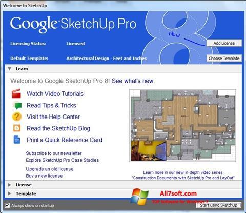Screenshot Google SketchUp Pro para Windows 7