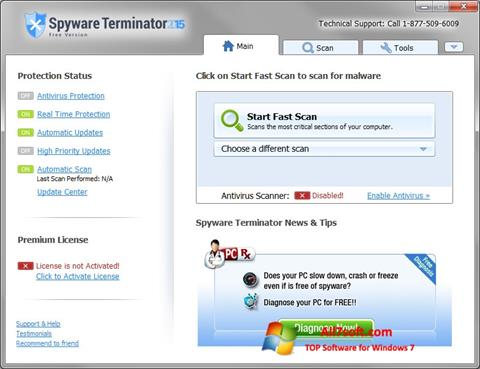 Screenshot Spyware Terminator para Windows 7