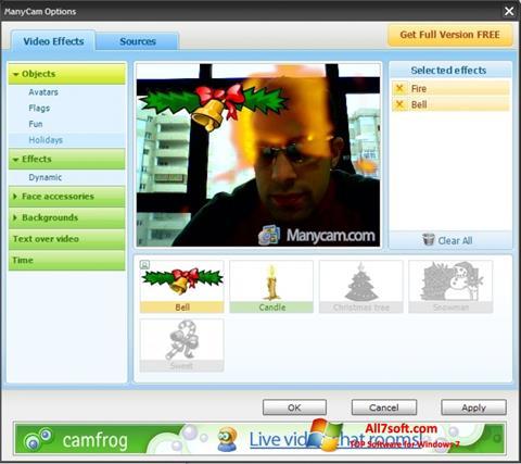 Screenshot ManyCam para Windows 7