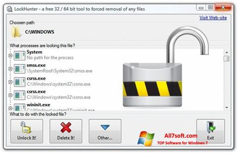 Screenshot LockHunter para Windows 7