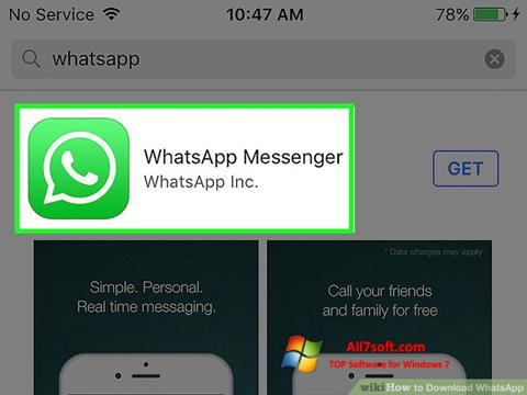 Screenshot WhatsApp para Windows 7