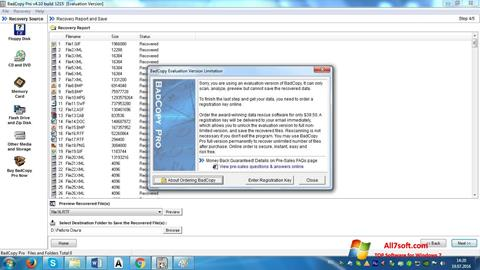 Screenshot BadCopy Pro para Windows 7