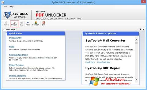 Screenshot PDF Unlocker para Windows 7