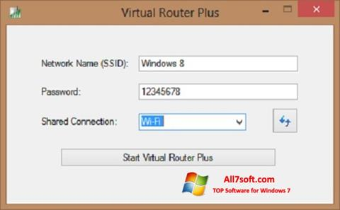 Screenshot Virtual Router Plus para Windows 7