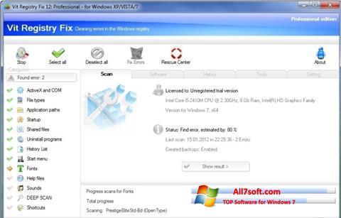 Screenshot Vit Registry Fix para Windows 7