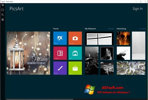 Screenshot PicsArt para Windows 7