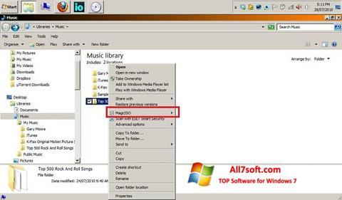 Screenshot MagicISO para Windows 7
