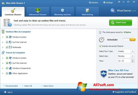 Screenshot Wise Disk Cleaner para Windows 7