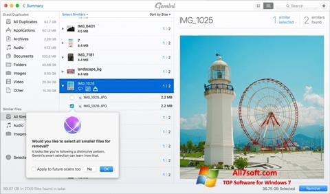 Screenshot Gemini para Windows 7