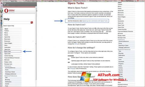 Screenshot Opera Turbo para Windows 7