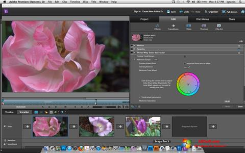 Screenshot Adobe Premiere Elements para Windows 7