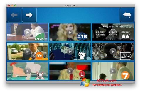 Screenshot Crystal TV para Windows 7