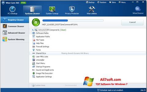 Screenshot Wise Care 365 para Windows 7