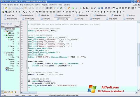 Screenshot PHP Expert Editor para Windows 7
