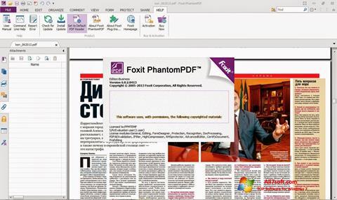 Screenshot Foxit Phantom para Windows 7