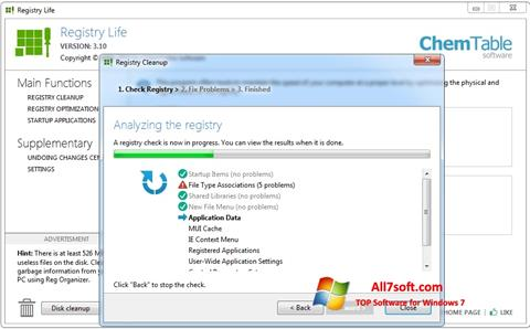 Screenshot Registry Life para Windows 7