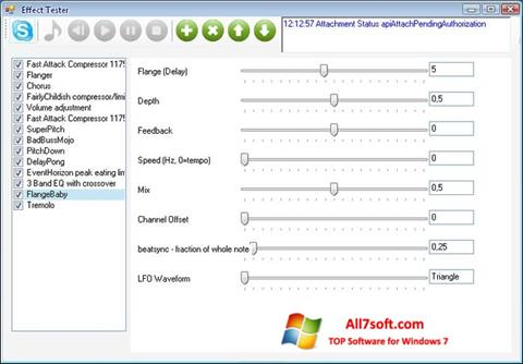 Screenshot Skype Voice Changer para Windows 7