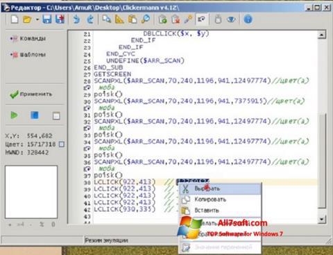 Screenshot Clickermann para Windows 7
