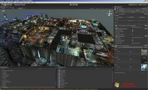 Screenshot Unity 3D para Windows 7