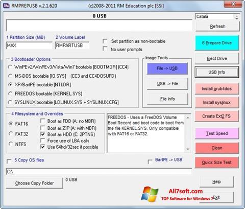 Screenshot RMPrepUSB para Windows 7