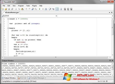 Screenshot Pascal ABC para Windows 7