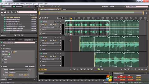Screenshot Adobe Audition CC para Windows 7