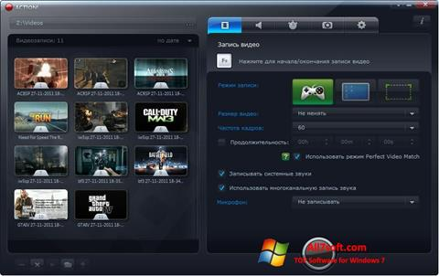 Screenshot Mirillis Action! para Windows 7