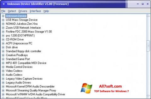Screenshot Unknown Device Identifier para Windows 7