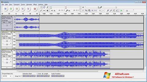 Screenshot Audacity para Windows 7