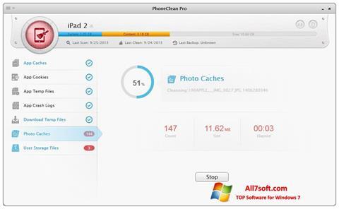 Screenshot PhoneClean para Windows 7