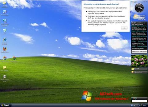 Screenshot Google Desktop para Windows 7