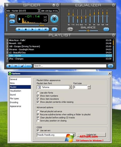Screenshot Spider Player para Windows 7