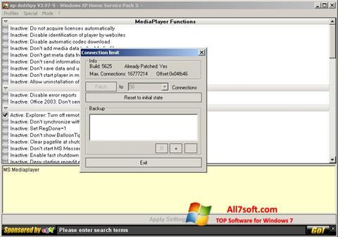 Screenshot XP-AntiSpy para Windows 7