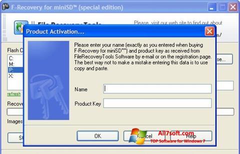 Screenshot F-Recovery SD para Windows 7