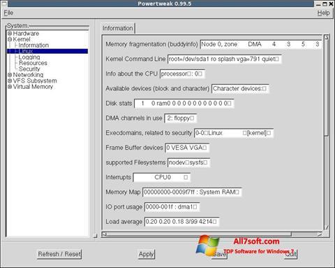 Screenshot PowerTweak para Windows 7