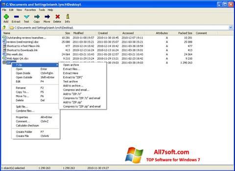 Screenshot 7-Zip para Windows 7