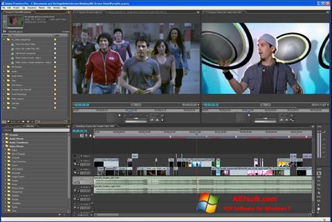 Screenshot Adobe Premiere Pro para Windows 7