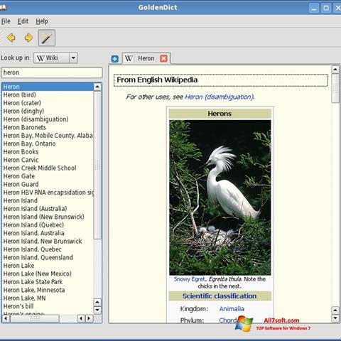 Screenshot GoldenDict para Windows 7