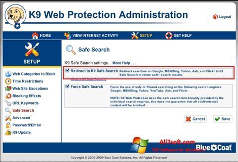 Screenshot K9 Web Protection para Windows 7