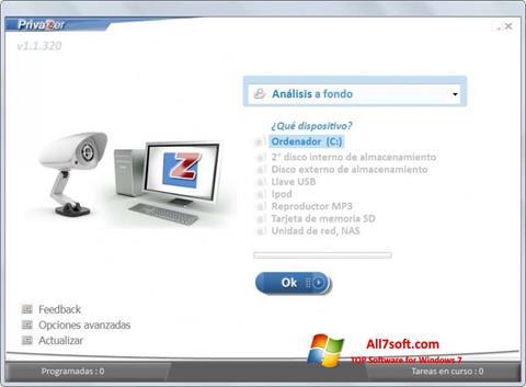 Screenshot PrivaZer para Windows 7