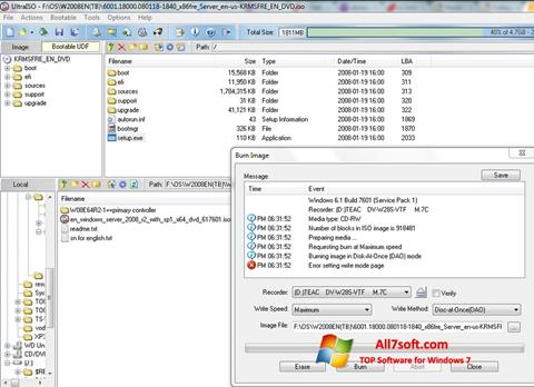 Screenshot UltraISO para Windows 7