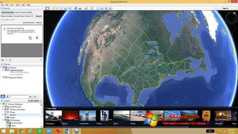 Screenshot Google Earth para Windows 7