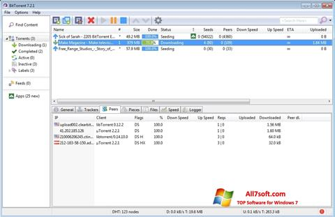 Screenshot BitTorrent para Windows 7