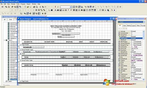 Screenshot Microsoft Visual FoxPro para Windows 7